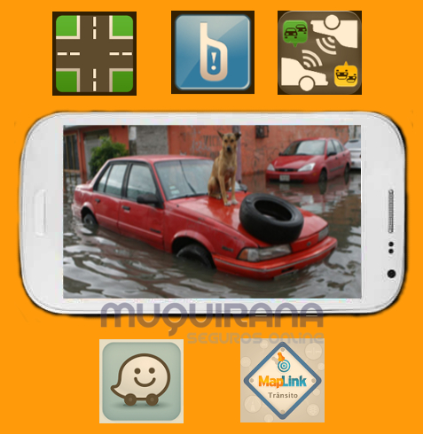 Aplicativos de Android e iPhone contra enchentes e o seguro de automóvel