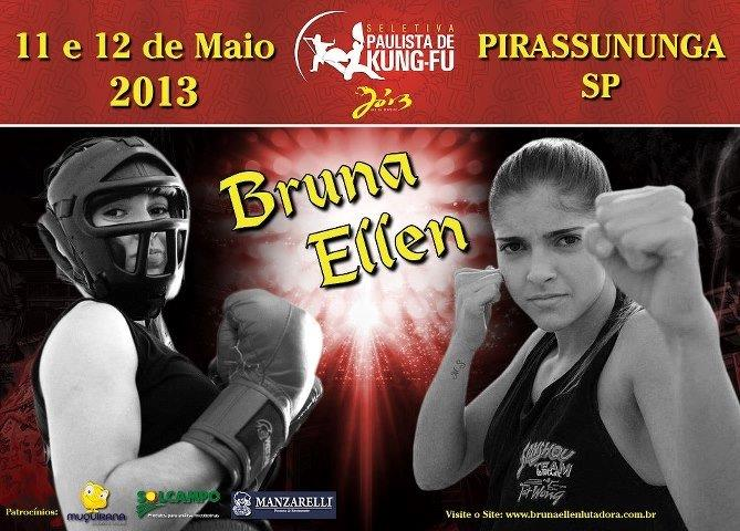 Seletiva Paulista de Sanda 2013 - Bruna Ellen Lutadora