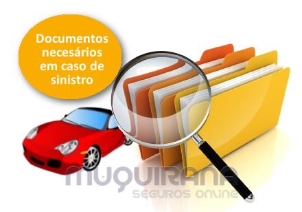 quais os documentos necessários em caso de sinistro no seguro de automóvel