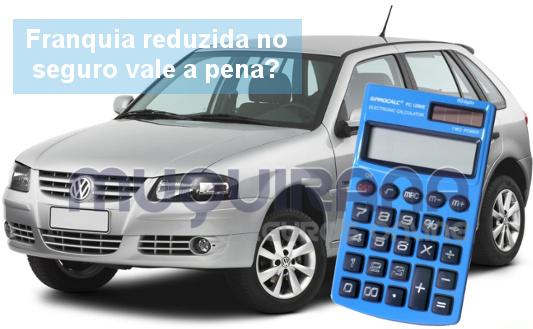 franquia reduzida no seguro de automóvel vale a pena