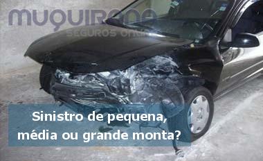 o que é sinistro de pequena, média ou grande monta no seguro de automóvel