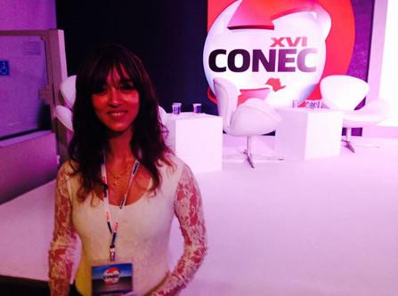 Jessica Dalcol no CONEC 2014 - auditório