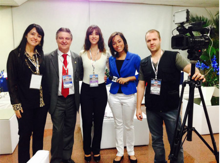 Jessica Dalcol no CONEC 2014 - equipe de filmagens
