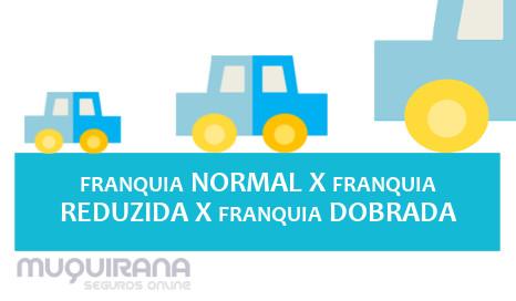 franquia normal, franquia reduzida e franquia dobrada no seguro