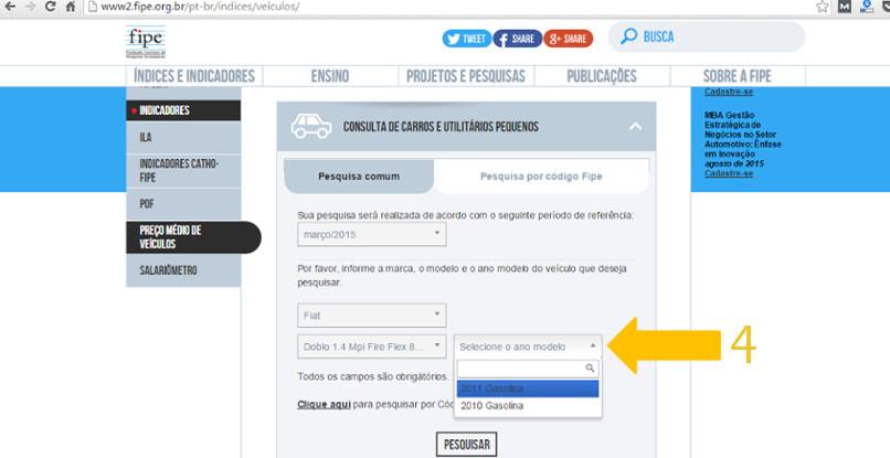 consultar tabela fipe - novo site - passo 7