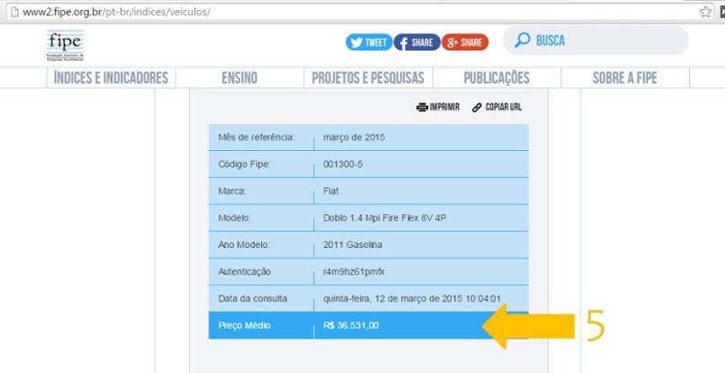 consultar tabela fipe - novo site - passo 8