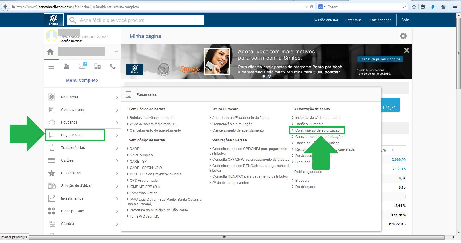 Como desbloquear débito do seguro - Banco Do Brasil 1