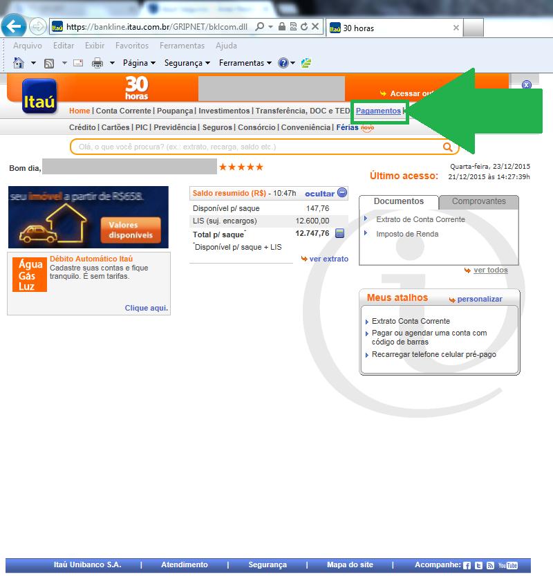 Como desbloquear débito do seguro - Banco Itaú