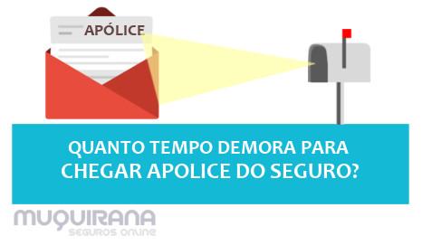 QUANTO TEMPO DEMORA PARA CHEGAR APOLICE DO SEGURO